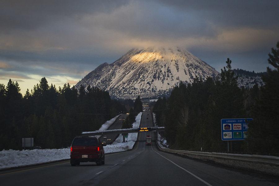 highway near Mt. Shasta