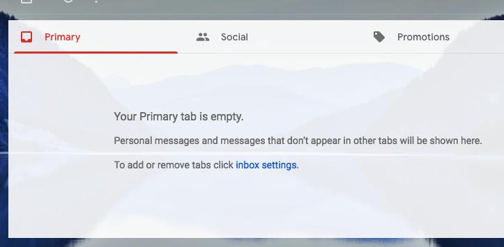 Gmail inbox zero image