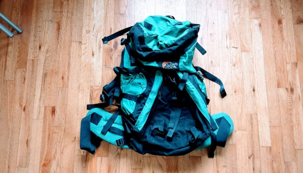 My much-abused backpack